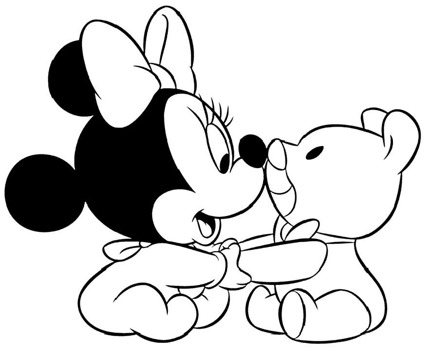 Desenho da Minnie para colorir