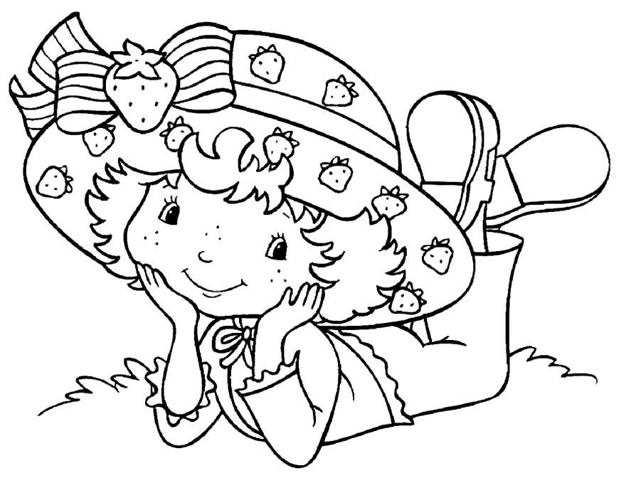 Desenho para pintar da Moranguinho