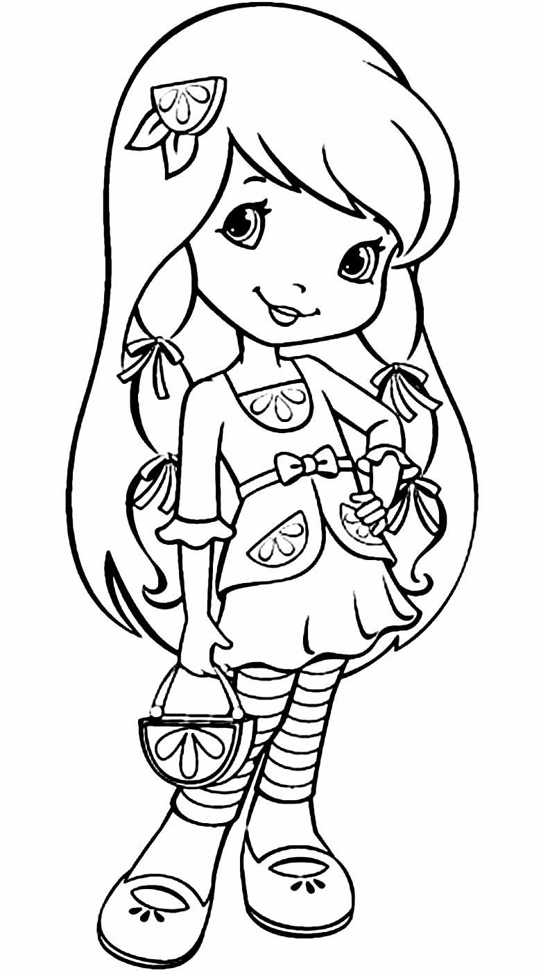 Desenho da Laranjinha para colorir