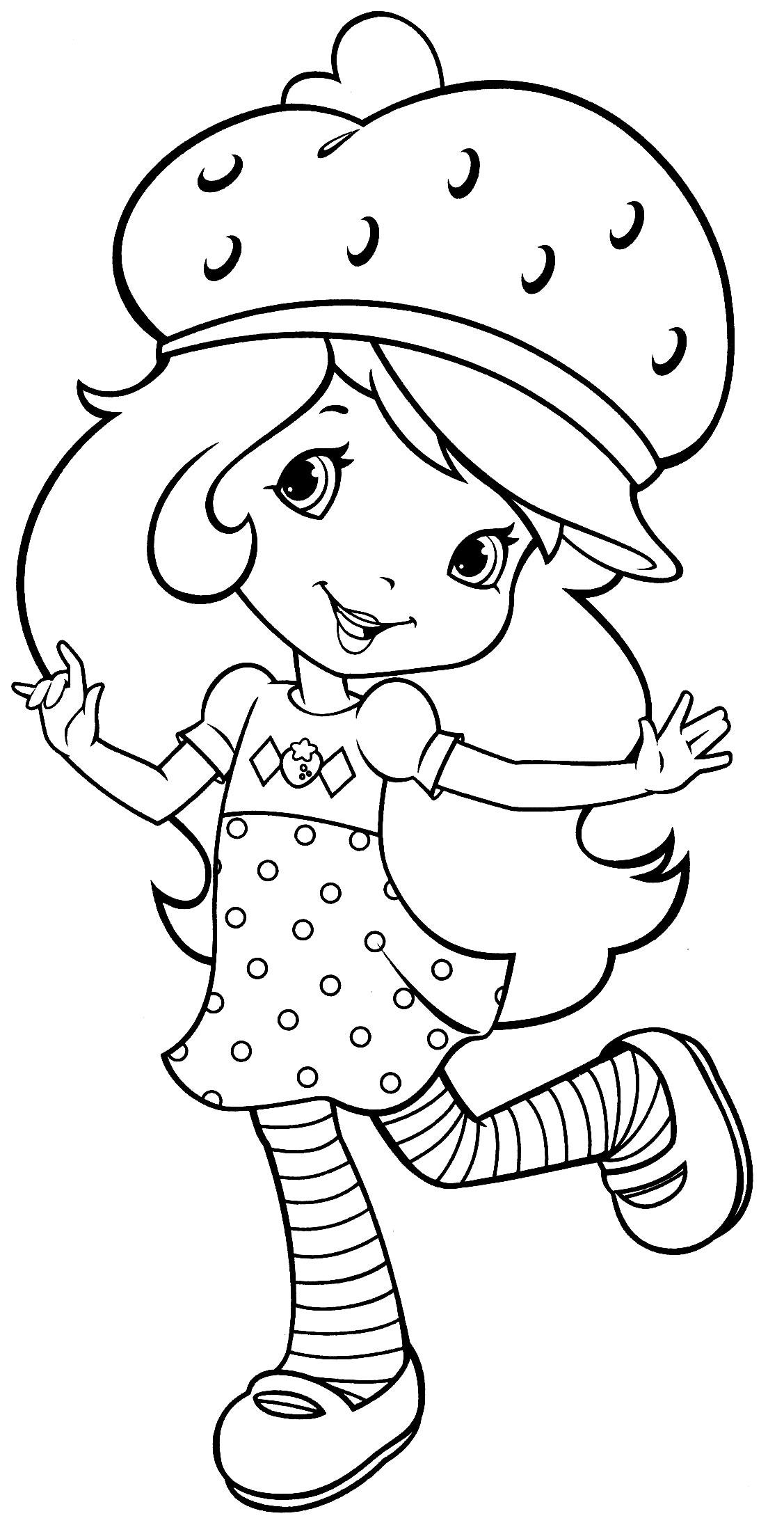 Desenho da Moranguinho para pintar