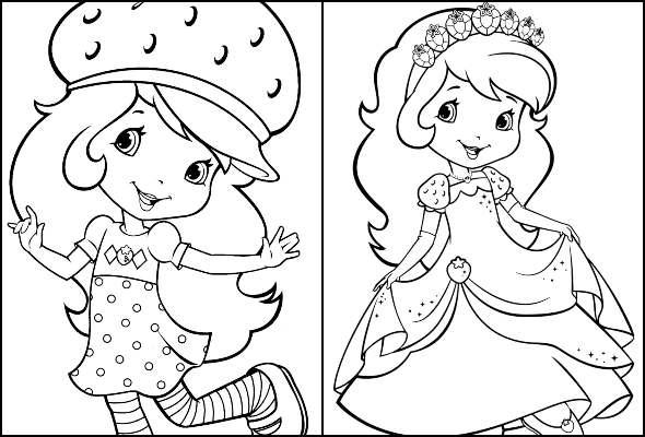 Desenhos para colorir da Moranguinho