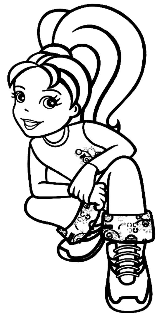 Imagem da Polly Pocket para colorir
