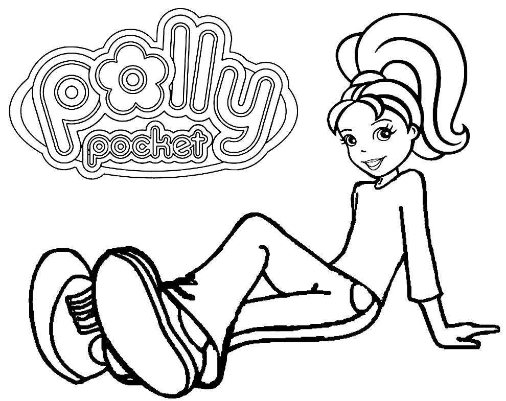 Imagem da Polly Pocket para imprimir e pintar