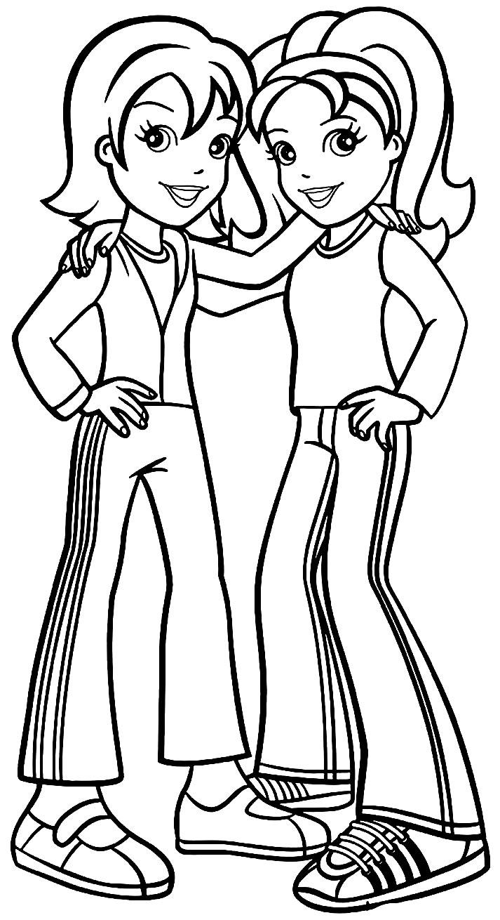 Desenho da Polly Pocket para imprimir e pintar