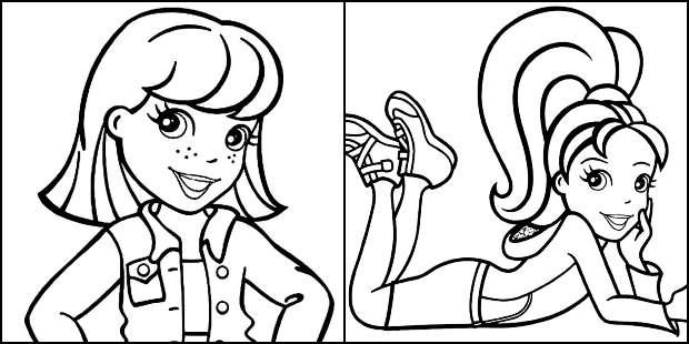 Desenhos da Polly Pocket para imprimir e colorir