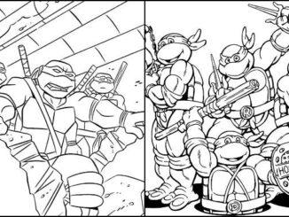 Desenhos das Tartarugas Ninjas para colorir