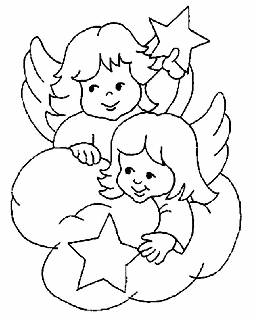 Imagem o de anjinhas para colorir
