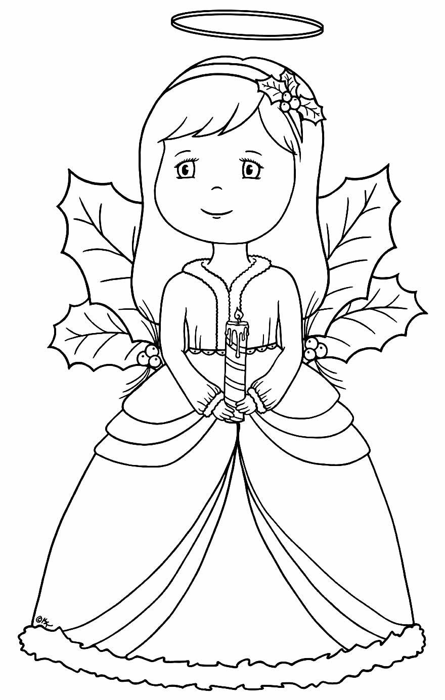 Desenho de anjas para colorir