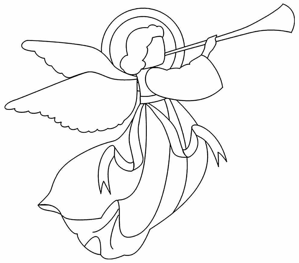 Desenho para pintar de anjinho