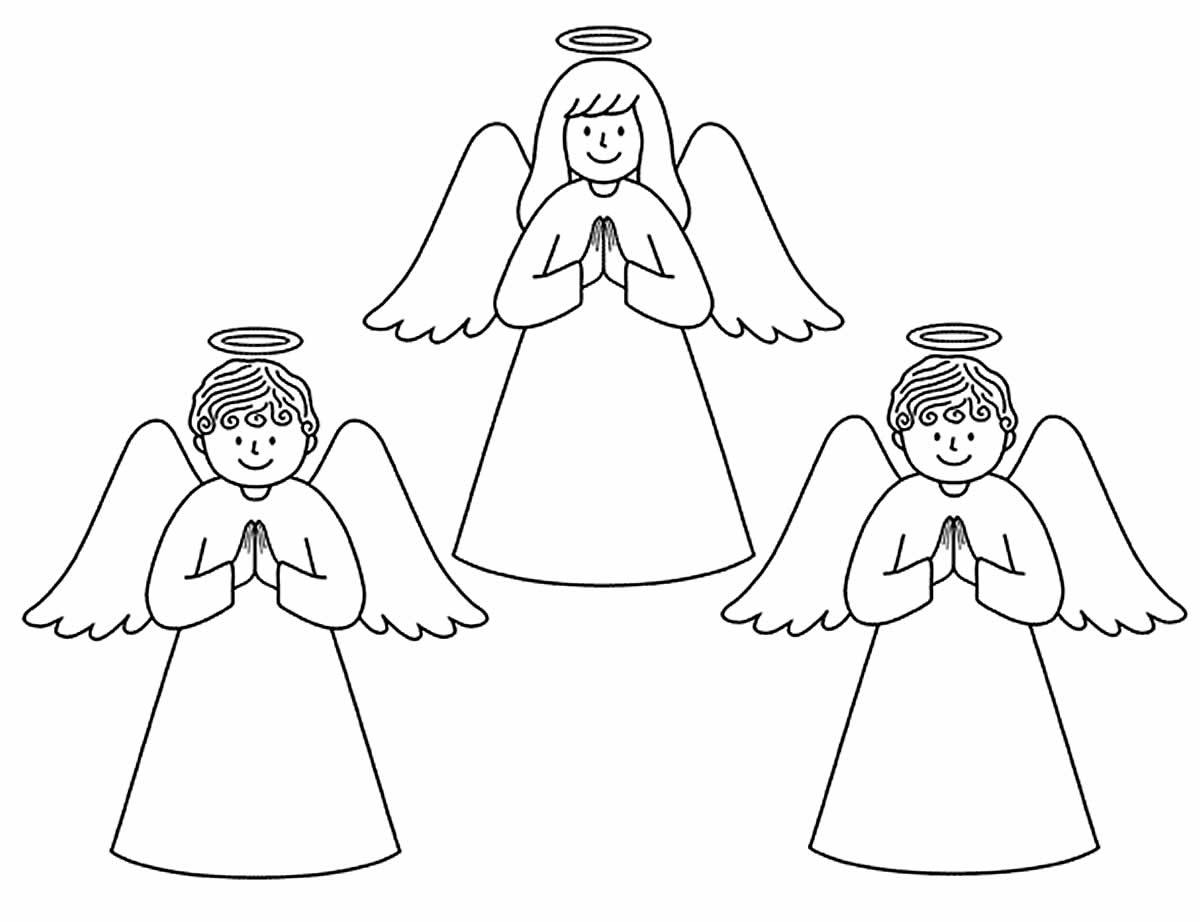 Desenho de anjinhos e anjinhas