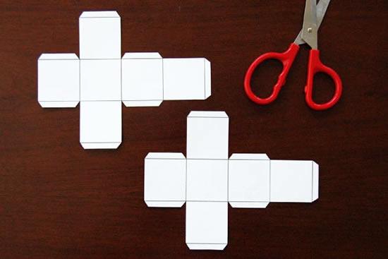 Faça lindos dados de papel em casa