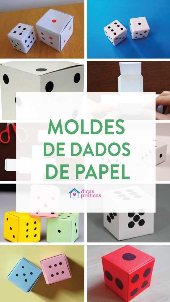 Dicas e moldes para fazer dados de papel