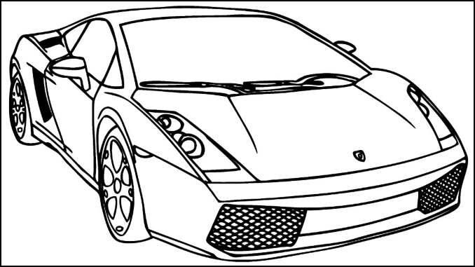 Desenhos de Ferrari para colorir