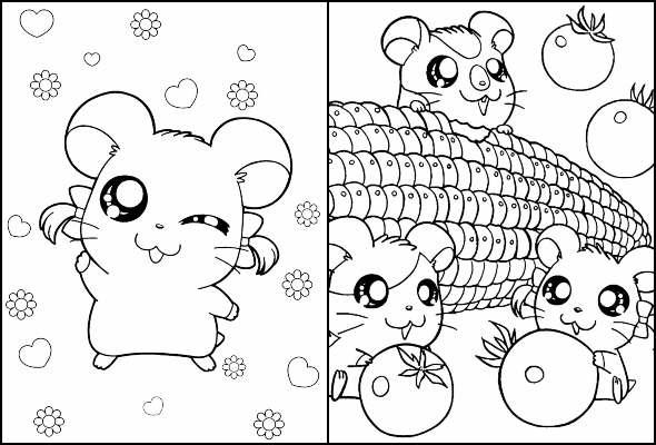 Desenhos de Hamtaro para colorir