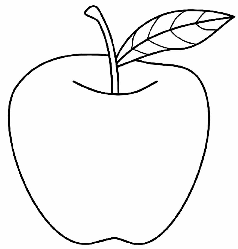 Desenho de Maçã para colorir