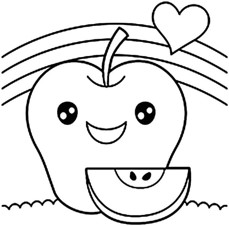 Desenho fofo de Maçã
