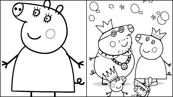 Desenhos para colorir da Peppa Pig