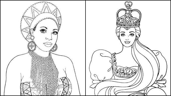Desenhos de Rainha para colorir