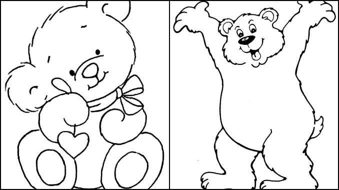 Desenhos para colorir de Ursinho