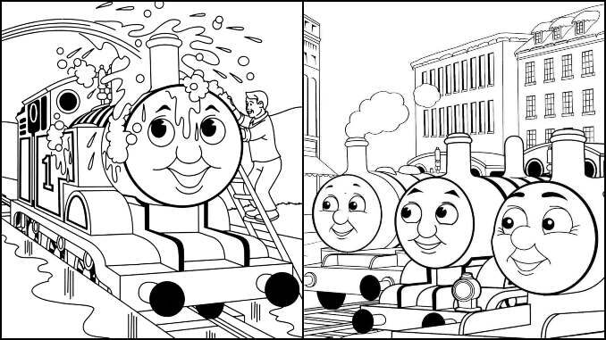 Desenhos para colorir de Thomas e Seus Amigos