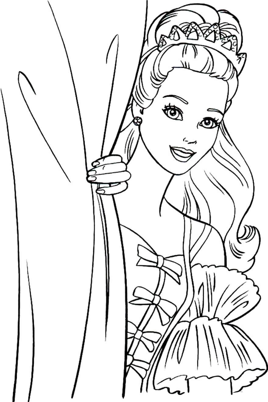 Desenho para colorir da Boneca Barbie