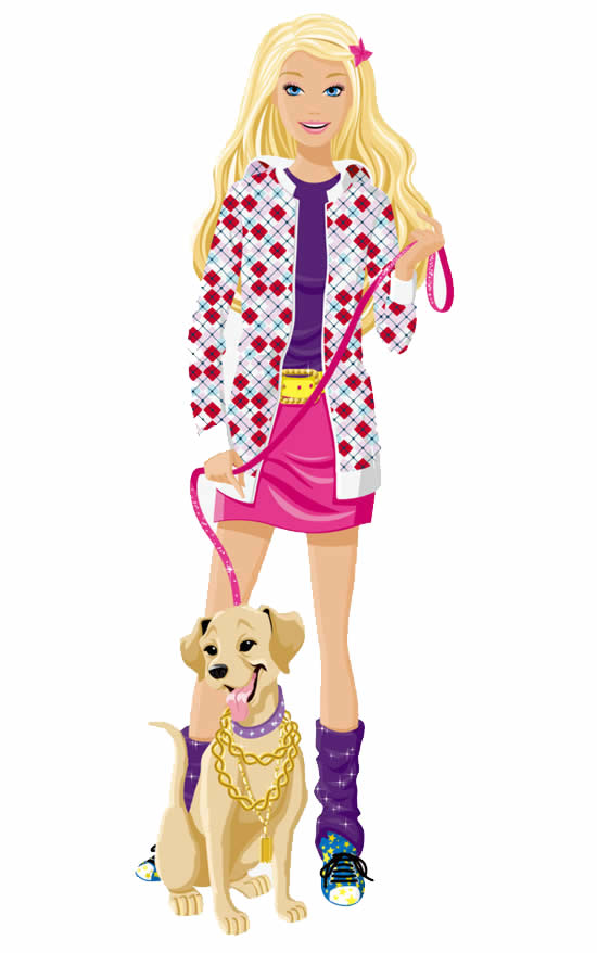 Desenho colorido da Barbie