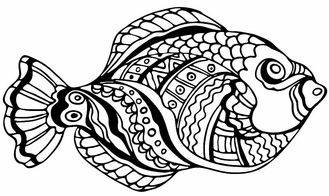 Desenho de peixe para pintar