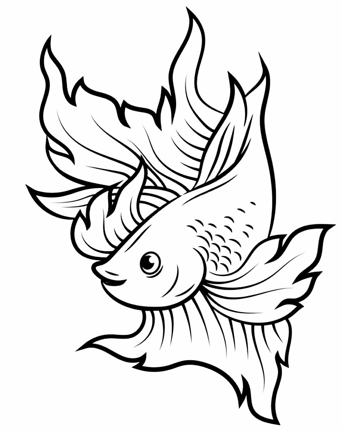 Imagem de peixe para colorir