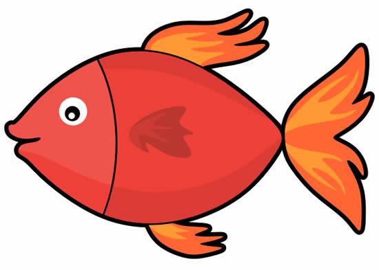 Desenho Colorido de Peixe
