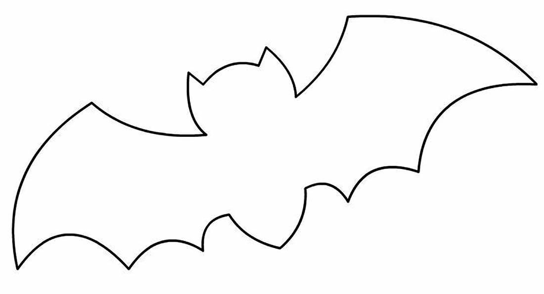Molde para fazer morcego de papel