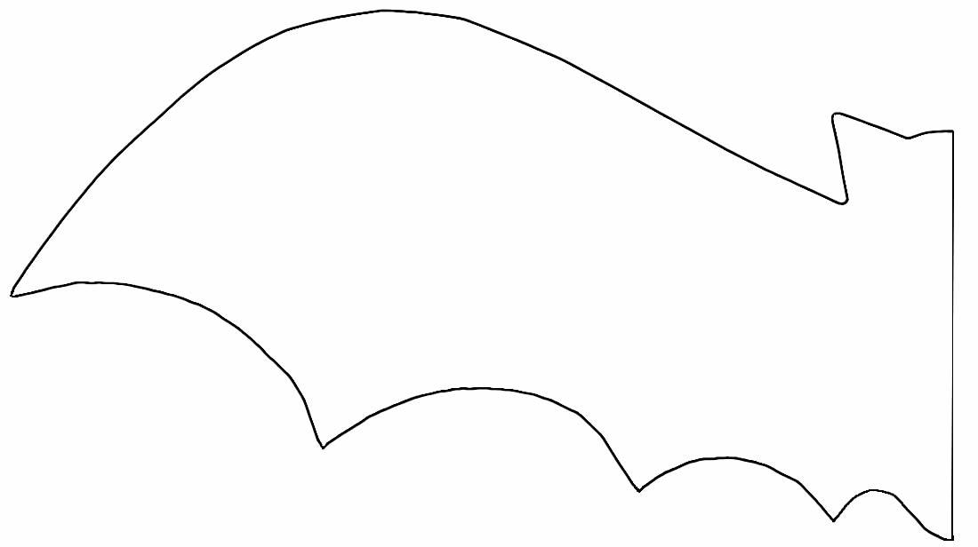 Molde de morcego de papel