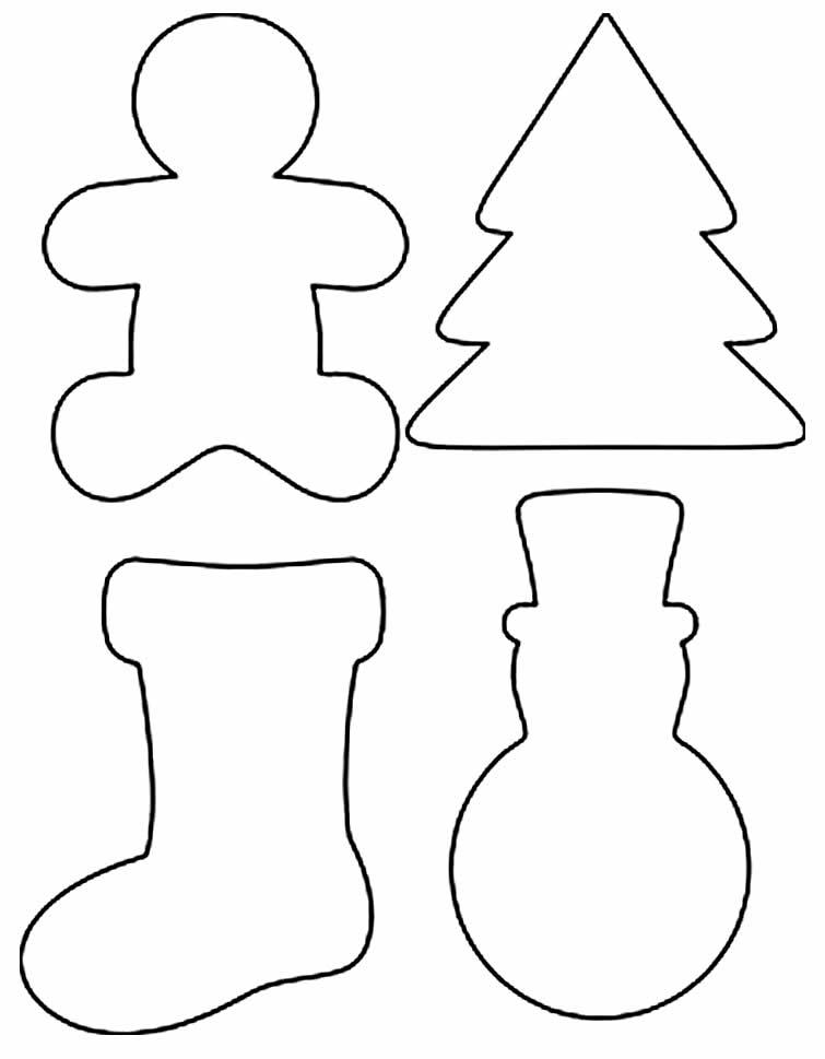 Moldes de enfeites de Natal