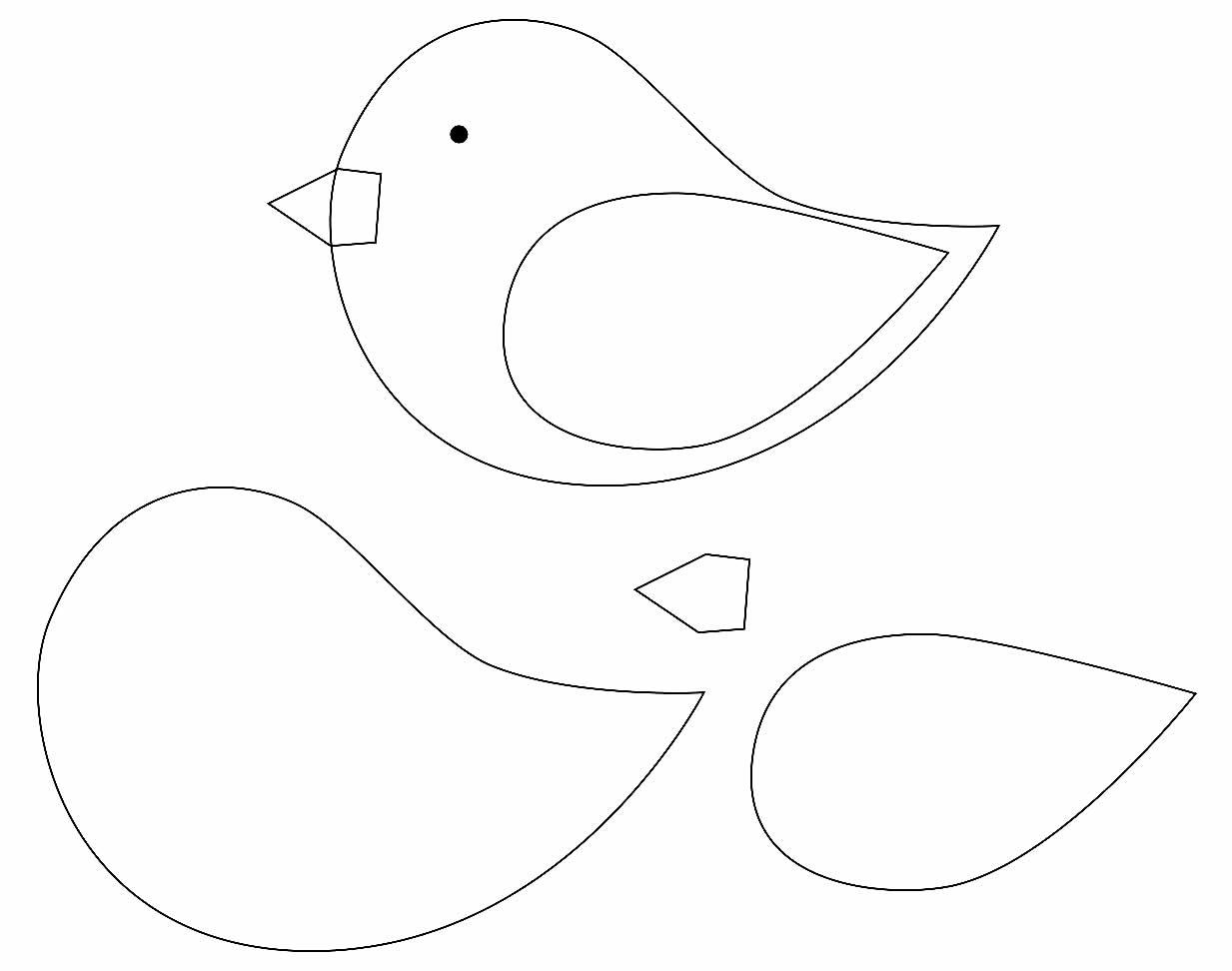 Moldes de passarinho