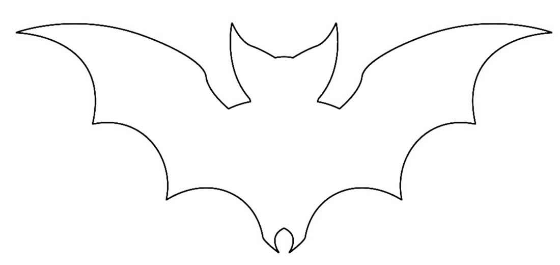 Molde de Morcego para fazer enfeites