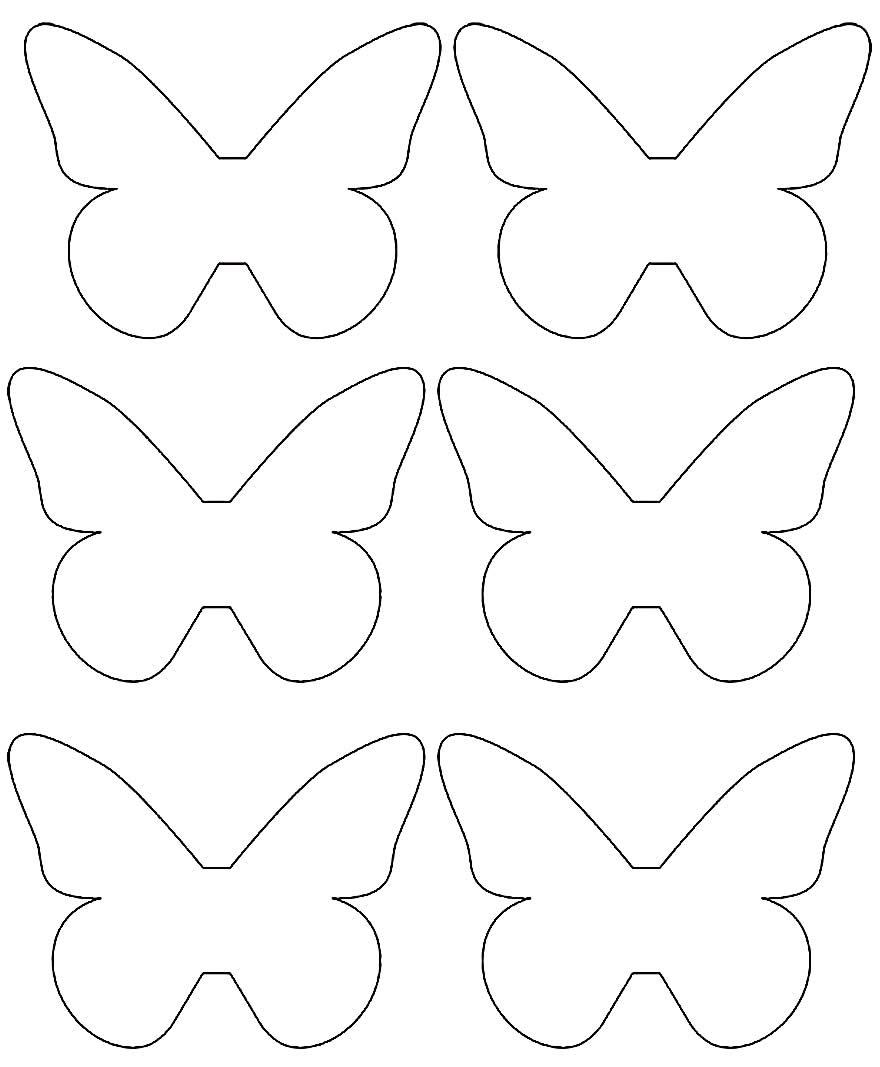Moldes de borboletas para imprimir