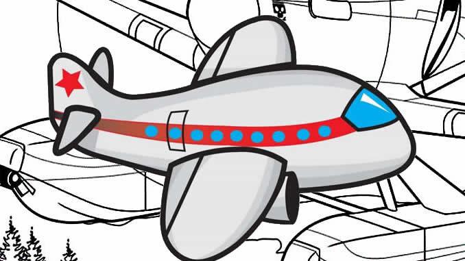 Desenhos de Avião para colorir