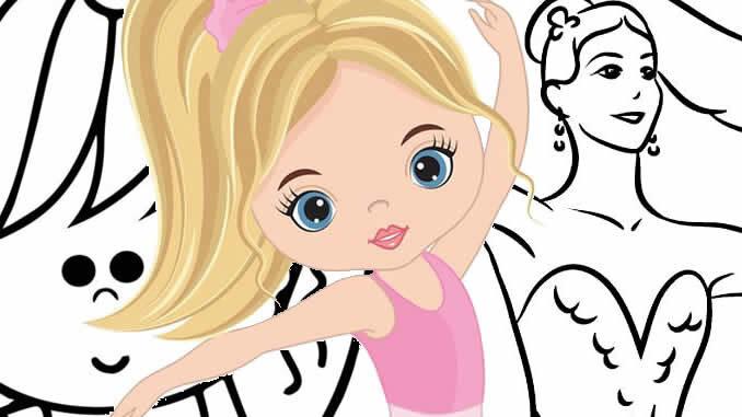 Desenhos de Bailarina fofa para colorir