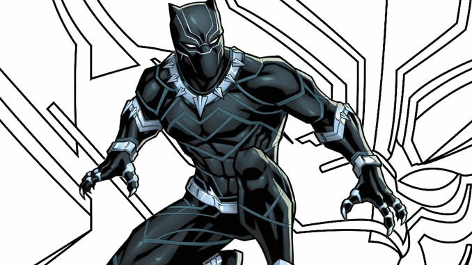 Desenho de Pantera Negra para colorir e imprimir