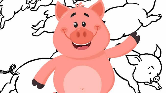 Lindos desenho de Porquinhos para pintar e colorir