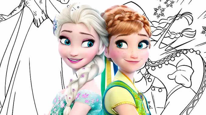 Desenhos lindos para colorir de Frozen