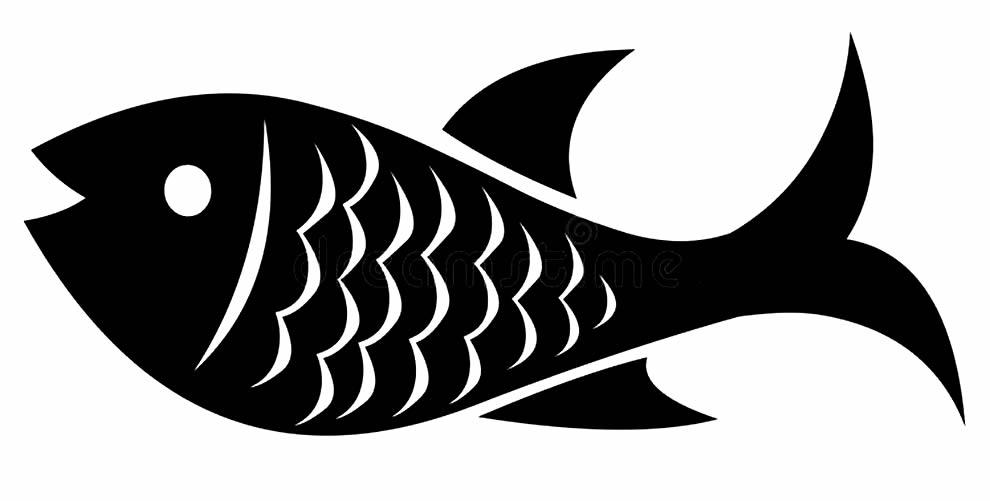 Molde para imprimir de peixe