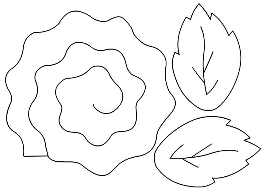 Molde lindo para fazer flor