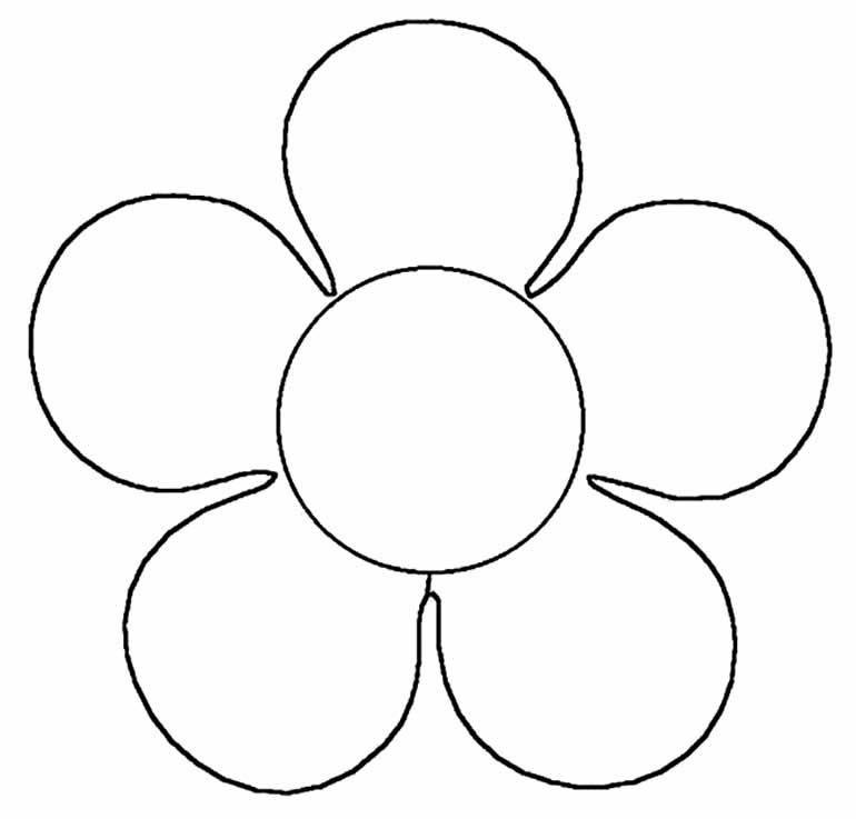 Molde simples para flor
