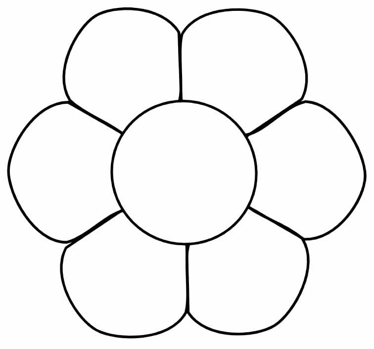 Molde simples de flor