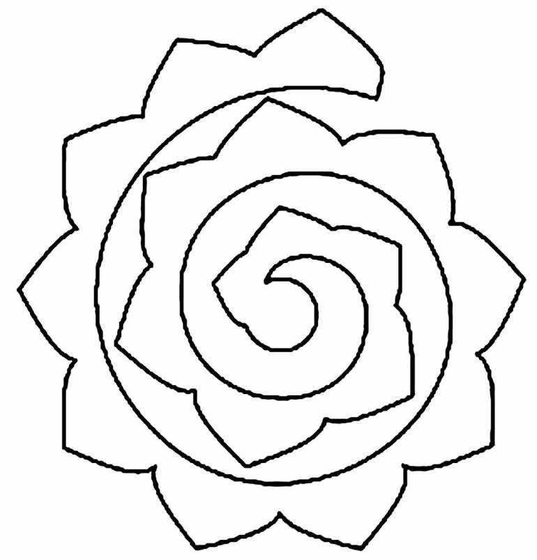 Molde para fazer flores em EVA
