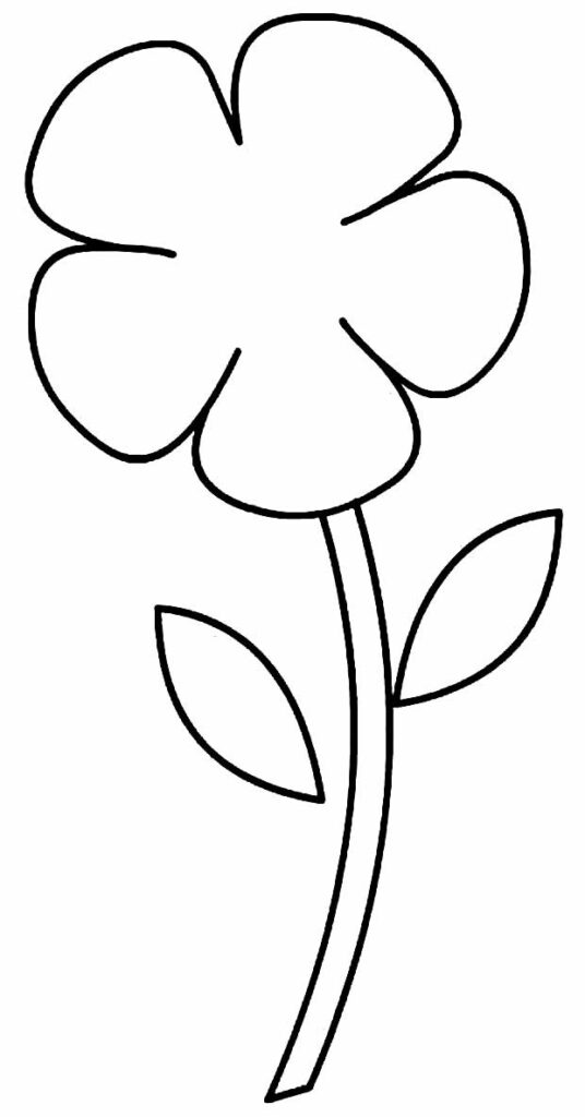 Molde simples para fazer flor de EVA