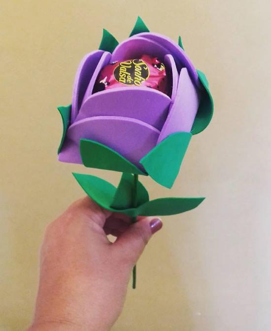 Flores em EVA para lembrancinhas