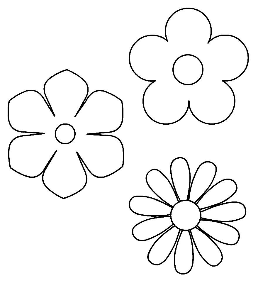 Moldes para flores em EVA