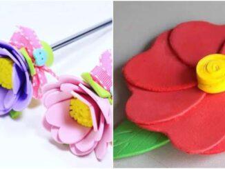 Moldes de flores em EVA