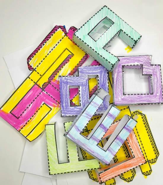 Moldes para fazer letras de papel